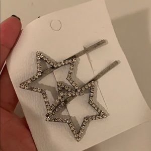 Free People Sparkly Star Hairpins